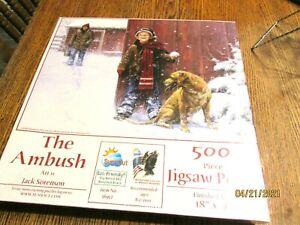SEALED JACK SORENSON THE AMBUSH SNOWBALL SNOW 500 PIECE JIGSAW PUZZLE SUNSOUT
