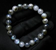 Gemstone Beads Bracelet Aaaa 8.5mm Natural Labradorite Rainbow Light