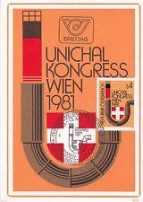 Österreich 1981 :FDC Unichal Kongress Wien Maximumkarte SSt. 1150 Wien