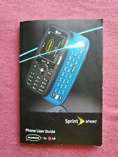 SPRINT RUMOR PHONE INSTRUCTIONS/USER GUIDE