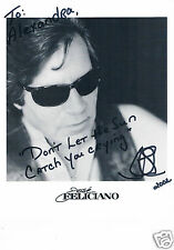 Jose Feliciano  Singer Songwriter  Hand Signed Photograph 10 x 8  inches