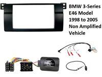BMW E46 3 Series Car Stereo Double Din Fascia & Steering Wheel Interface Kit