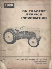 Ford 8N Tractor Service Information