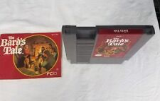 BARD'S TALE NES NINTENDO VIDEO GAME WITH MANUAL RPG