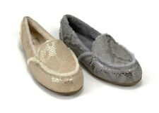 UGG Women's Hailey Metallic Snake Gold & Silver Loafer Style Slippers  M1099945