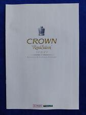 Toyota japón-Crown Royal Saloon Accessories Customize-folleto brochure 2010