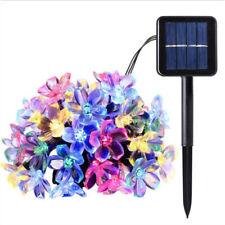 7M 50 LED Solar Powered Fairy String Flower Lights Outdoor Garden Wedding Party