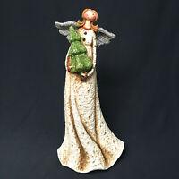 Vintage Whimisical 10 Inch Angel Resin Gltter Wings Glitter Tree