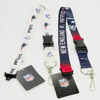 NFL New England Patriots Breakaway Lanyard Keychain Team Color