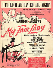 I COULD HAVE DANCED ALL NIGHT Music Sheet-1956-MY FAIR LADY-British-LOEWE/LERNER