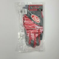 Rawlings Adult Workhorse Batting Gloves - Gray/Red Adult X-Large BG455G-S-91