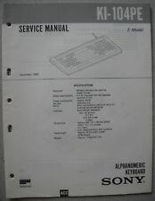 SONY KI-104PE Service Manual inkl. Supplement 1