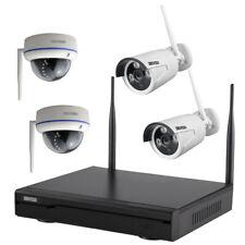 Komplettset HD WLAN IP Überwachungsset Kamera Domekamera Nachtsicht Fernzugriff