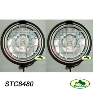 LAND ROVER SAFARI 5000 FOG LAMP LIGHT x2 DISCOVERY RANGE DEFENDER STC8480 OEM