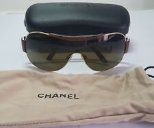 CHANEL SUNGLASSES CH 4136 C 125/73 125 Cc shield pilot ORIGINAL!!