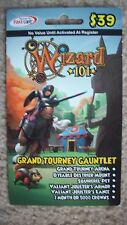 new Wizard 101 GRAND TOURNEY GAUNTLET BUNDLE Game Card Crowns Dyeable Mount pet