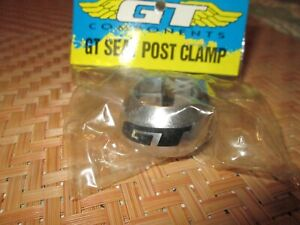 old school  BMX  Free Style GT seat post clamp  silver 25.4 nos