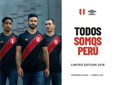 Official Authentic Peru Black Jersey Soccer 2018 Russia Shirt LIMITED EDITION !!