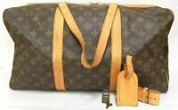 Authentic LOUIS VUITTON Monogram Sac Souple 45 Duffle bag France M41624 Key Lock