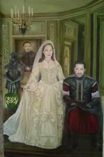 Custom Hand Painted Wedding Portrait