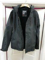 PROJEK RAW Premium Heavy Grey Padded Winter Hooded Parka Coat Jacket g l