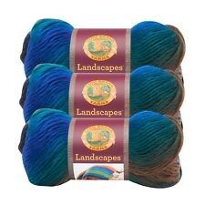 Lion Brand Yarn 545-214 Landscapes Yarn, Skyline (Pack of 3 skeins)