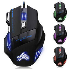 Hot Version 5500 Dpi 7 Buttons Usb Led Optical Wired Gaming Game Mouse Mice