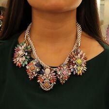 Collar Colgante Flor Multicolor Cordón Moderno Original Matrimonio SRK 1
