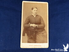 Orebro SWEDEN Alfred Hermansson EARLY CDV Portrait Sturdy Young Woman