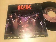 "AC/DC AC DC SPANISH 7"" SINGLE SPAIN LET'S / BACK IN BLACK HARD ROCK HEAVY METAL"