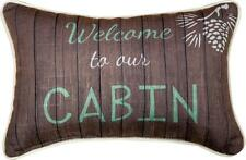"WELCOME TO OUR CABIN Throw Pillow 12.5"" x 8.5"", by Manual Weavers"