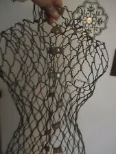 Vintage My Double Dress Form Metal Wire Adjustable Torso Model A 28 Tall