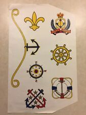 Vintage T-Shirt Heat Transfer Yacht Club Nautical Theme Prints/Symbols