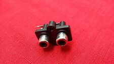 (1pc) PANEL PCB MOUNT 2 RCA FEMALE JACK AUDIO VIDEO OUTLET SOCKET CONNECTOR