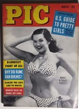 PIC digest March 1956 risque men's mag (no nudity) Anita Ekberg photos Eve Meyer