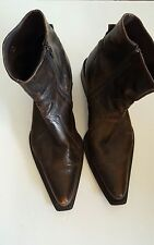 Aldo Men's Side Zip Ankle Boots Size 10.5  Distressed