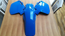 Honda CR 125 250 500 Blue Plastic Rear Fender Side Panels Peak Pro Circuit 90 91