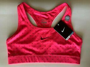 NEW NIKE PRO [M] Women DRI-FIT Medium Support Sports Bra-Pink 620325-639