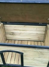 Katzenhaus Hundehütte aus Holz unbenutzt 86 x 60 x 62 cm Kleintierhaus B-Ware