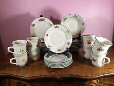 Vintage LOT Gibson Housewares China Fruit Pattern 28 Piece Set Saucer BnB Coffee