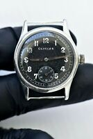 WWII German Military Watch GLYCINE DH Stainless Steel 1940s cal. A.S. 1130