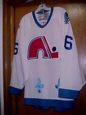 NEW Men's CCM VINTAGE Quebec Nordiques #26 Jersey, SEWN, Size XL XXL 48 50 WHITE
