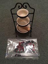 Longaberger Jw Mini 3 Tier Mixing Bowl Set With Accessories!