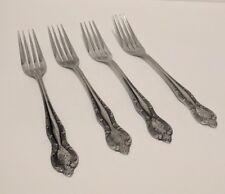 "Kimco K104 Japan Stainless Steel Set of 4 Dinner Forks 7 3/4"" Flatware"