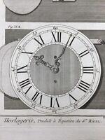 Horlogerie 1765 Pendule à Équation Rivas Encyclopédie Diderot Horloger Clock