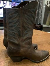 Ariat Womens Brown Leather Full Zip Western Boots Size US 7.5 B
