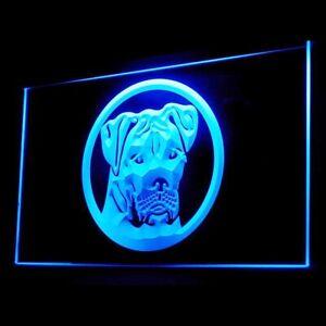 210013 American Bulldog Dog Pet Shop Display LED Light Neon Sign