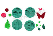 4PCS Butterfly Leaf Hydrangea Shaped Fondant Cake Decorating Moldes De Silicona