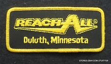 """REACH ALL EMBROIDERED SEW ON PATCH LIFT EQUIPMENT CHERRY PICKER 4 1/2"""" x 2"""""""