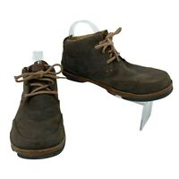 Olukai Kamuela Chukka Boots Men's Size 8.5 Brown Leather Ankle Lace Up Casual